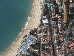 2mn à pieds de la Grande plage et de la rue Piétonne, T2 de 45 m2