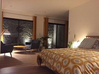 A 5mn de Carcassonne, studio neuf 45m2, terrasse privée