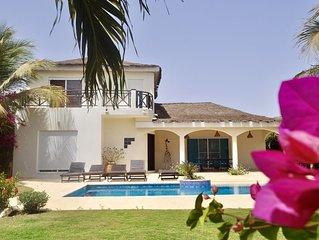 A 40m de la mer: Villa de standing à Ngaparou (Saly) - Piscine avec plage