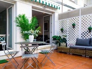 PLAYA DE ONDARRETA  Magnifique ,Terrasse,  Garage,Wifi  , pour 4  ESS:01642