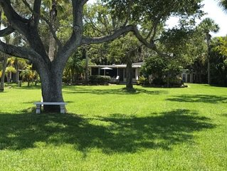 Peaceful Waterfront Home in Sebastian FL with Boathouse & Dock - Family Fun!