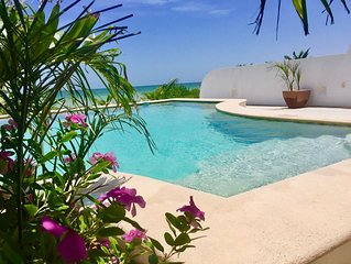 Beachfront Villa Tranquilita 3Bd/3Ba POOL,WiFi ,4 ACs, Private collection