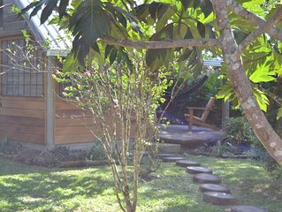 Hummingbird Rest self catering cabana with private kitchen in  subtropic garden