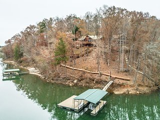 Lake Hartwell Mountain Home with Stunning Views and Deep Water Private Dock