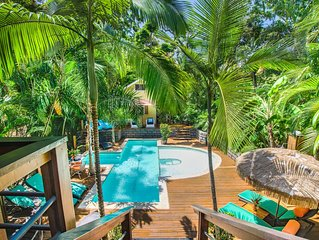SPECTACULAR JUNGLE CANOPY TREE HOUSE WITH WATERFALL POOL & GYM!