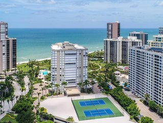 Luxury beachfront spacious 2 bedroom, 2 bath Naples condo with 5 star amenities!