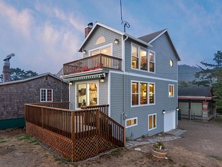 House w/ a full kitchen, ocean views, & beach access across the street!