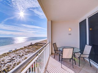 Come stay in this beautiful 2-bedroom, 2-bath Gulf front condo at The Pearl