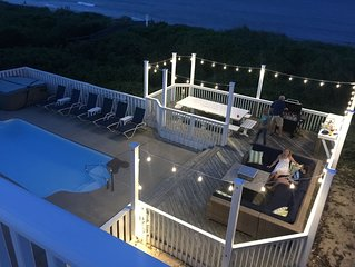 OCEANFRONT Corolla-11 BDR(8 Mstr)Pool, Fire Pit, Steps to beach, REMODELED 2019!