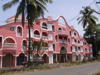 (F2) Fully Furnished 1 Bedroom Apartment in Benaulim in South Goa Near the Beach