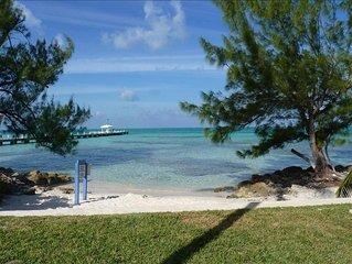 Ocean Beachfront Rum Point Retreat #31; Ground flr; Quiet Private Side w Garden