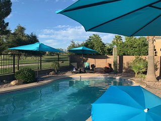 Beautiful 4 bedroom 2.5 bath with private pool on the golf course!