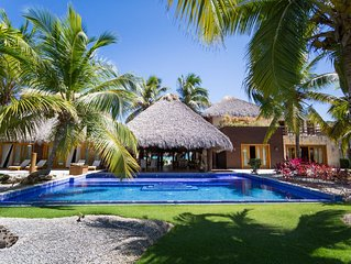 5BR BALI-STYLE GOLF FRONT VILLA ON PUNTA ESPADA WITH 2 MAIDS & 2 CARS/GOLF CARTS