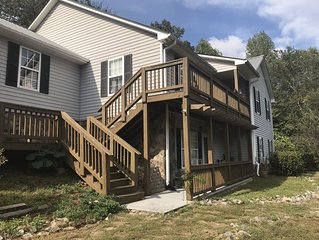 Dahlonega Mountain Apt #1  Four Rooms with Queen & Double Beds 1 - 4 persons