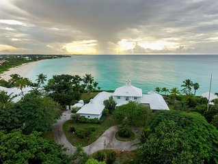 Luxurious, full service, 8000 Sq Ft Ocean Front Villa W/ Pool & Guest Cottage