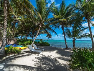 Beautiful beach front home on South Akumal Bay with 4 bedrooms.