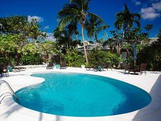 Perfect Villa for an Island Getaway! 2 bed 2 bath, sleeps 6 - high quality!