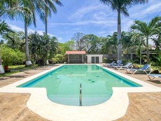 New listing! Villa w/ shared pool & beautiful gardens - walk to the beach!