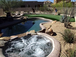 Troon North Golf Rental W/ Putting Green & Private Pool/Spa, utilities included