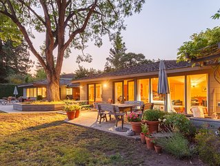 North Palo Alto home with pool near Stanford Univ.