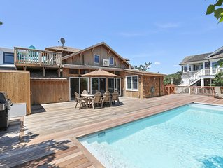 Spacious home w/ deck & private pool, outdoor shower, ocean views!