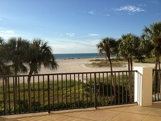 On the quiet beach of Sand Key! Beautiful views from HUGE 3rd floor patio.