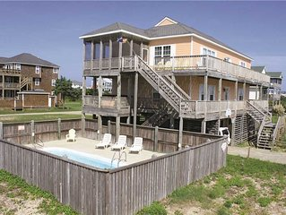 Oceanside in Hatteras w/Htd Pool&HotTub, RecRoom