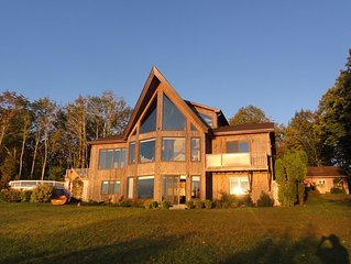 Waterfront house with private retreat panoramic views of Passamaquoddy Bay