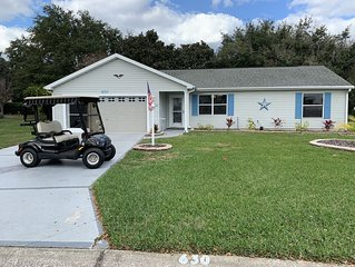 Updated home in a GREAT LOCATION  includes GOLF CART and high speed WIFI