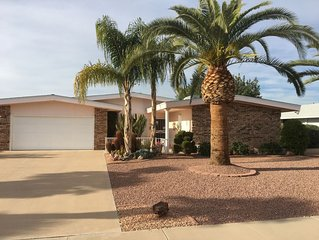 Tranquil Sun City Golf Home w/ Fruit Trees Close to Shopping & Spring Training
