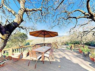 Sunny Gem w/ Big Decks, Hidden Garden Patios & Mountain Views – Walk to  Lake