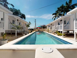 Great property w/ five air-conditioned cabanas & a shared pool - near the beach