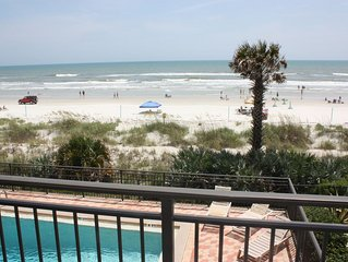 Direct Ocean Front Condo with wrap around balcony on 2nd floor with pool 3/2