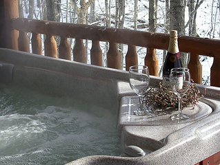 Incredible Views! Romantic Cabin with Hot Tub, Jacuzzi, Fireplace, & Kitchen