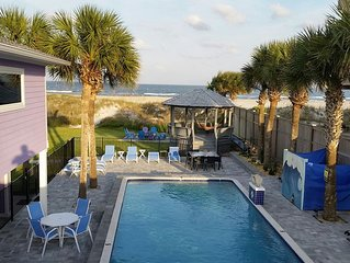 Love Shack Oceanfront 5 Master King Suites Pool Home Sleeps 14