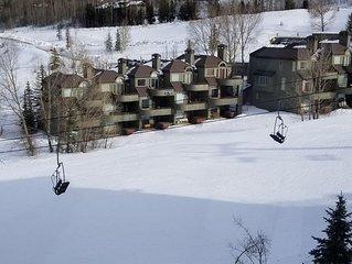 Ski-in, Ski-out Assay Hill Condo in Prime Location with Ski slope views!