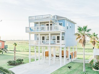 3 Balconies in Private Bermuda Beach in Galveston West Beach