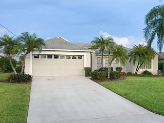 Southwest FL Getaway Home on Canal with PRIVATE POOL!