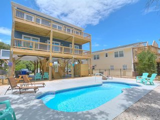 BRAND NEW OCEAN VIEW 5 BR/3.5 BA HOME-PRIVATE POOL-PETS-SLEEPS 16