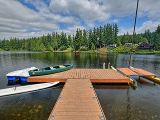 Large Lakefront apartment with huge dock, hot tub, and three boats.