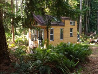 Beautiful Tiny House on wheels on treed lot, minutes from beaches, bikes incl