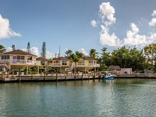 Elevated waterfront unit in beautiful Marathon Key Florida