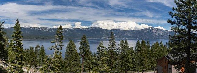 Une de nos belles vues sur le lac Tahoe!