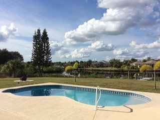 2BR/2BA, Waterfront Pool Home with Gulf Access - Delightful Escape!