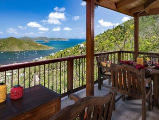 Peaceful, luxury villa with breathtaking views of Coral Bay and the BVIs