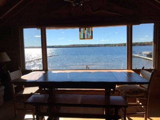 The Lounge - An Amazing View!  One of a kind - right on Trout Lake!