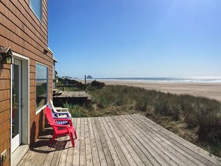 Stunning Oceanfront 3BR w/ Private Deck Overlooking Uncrowded Pristine  Beach