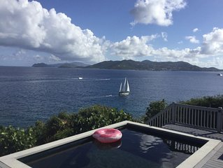 CABRITE PARADISE an OCEANFRONT VILLA, with stunning views, POOL, PRIVATE