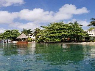 Casa a la orilla de la laguna Nichupte