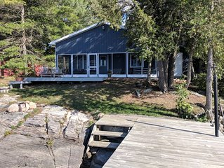 St. Lawrence River Chippewa Bay Waterfront Cottage with Dock for Fishing & Swim.